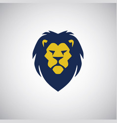 lion head logo design template vector image
