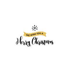 merry christmas hand drawn card vector image vector image