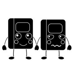 Notebooks school supplies kawaii icon image vector