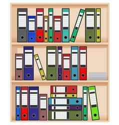 Office shelf vector