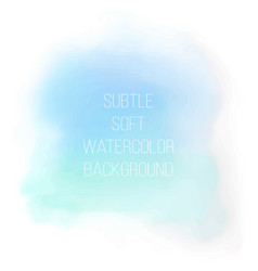 painted sea blue watercolor background vector image