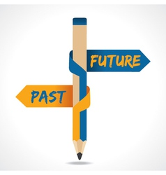 Past and future arrow in opposite pencil vector