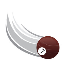 pool ball icon with an effect vector image