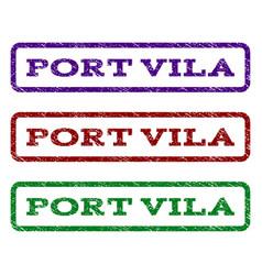 Port vila watermark stamp vector