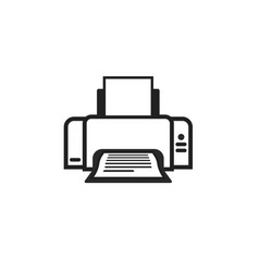 printer icon symbol line outline ink-jet vector image