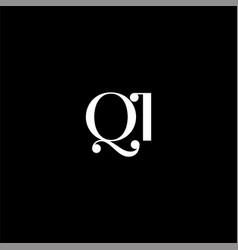 Q i letter logo creative design on black color vector