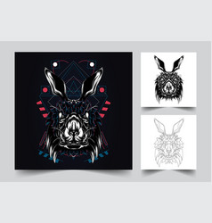 Rabbit artwork vector