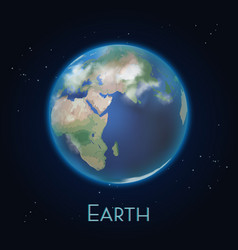 realistic earth planet iconworld globe from space vector image