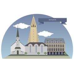 Reykjavik vector image