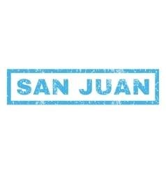San Juan Rubber Stamp vector