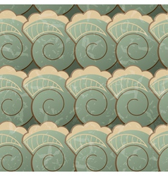 Seamless pattern with spirals vector image vector image