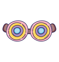 Silly funny glasses vector