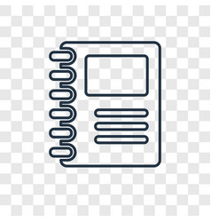 sketchbook concept linear icon isolated on vector image