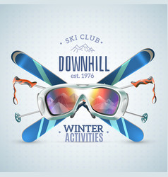 Ski club poster vector