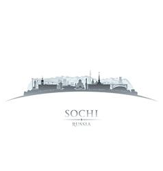 Sochi Russia city skyline silhouette vector image