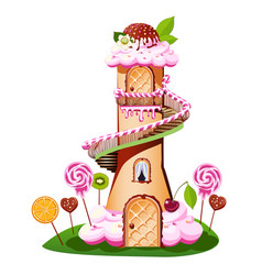 sweet castle vector image