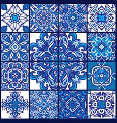 Talavera azulejo seamless pattern ornamental vector