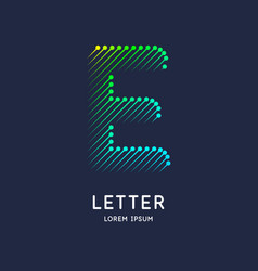 the letter e latin alphabet display vector image