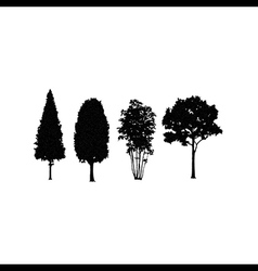 trees in silhouettes vector image