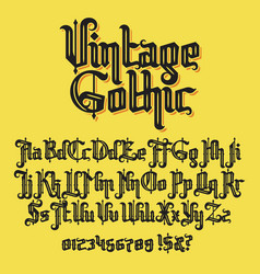 vintage gothic typeface vector image