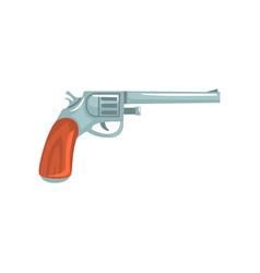 vintage revolver gun symbol of the wild west vector image