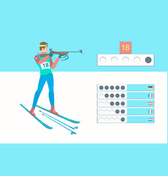 winter sport biathlon vector image