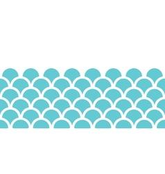 Abstract blue fishscale horizontal seamless vector image