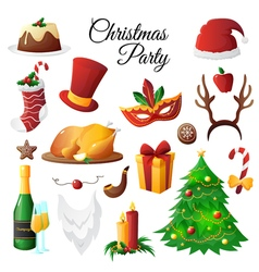 Christmas Party Set vector image vector image