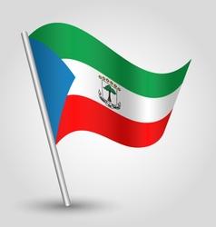 Equatorial guinea flag on pole vector