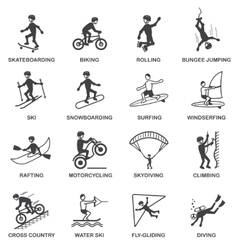 Extreme Sports Icons Set vector image vector image