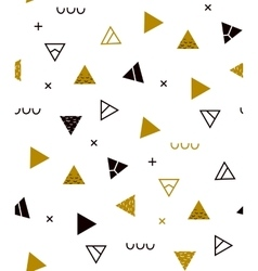 for hipsters gold Memphis style vector image