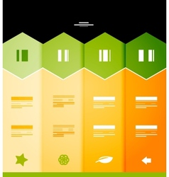 Infographic numbered banners vector image vector image
