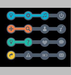 navigation menu bars vector image vector image