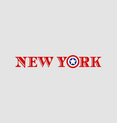 new york city name vector image vector image