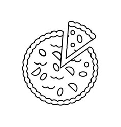 pie bakery line icon sign on vector image
