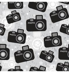 Camera seamless pattern vector image