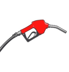 Red fuel nozzle with hose vector image