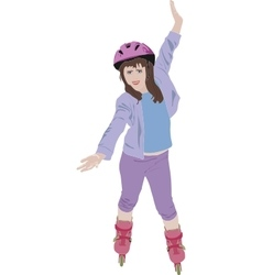 Roller skater vector image
