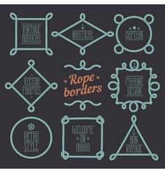 Rope borders set 7 vector image