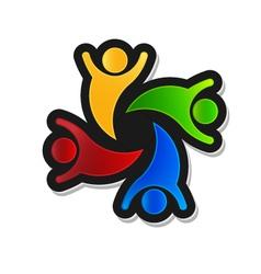 Teamwork Party 4 Logo design element vector image