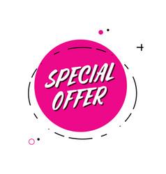 trendy minimal flat design special offer vector image