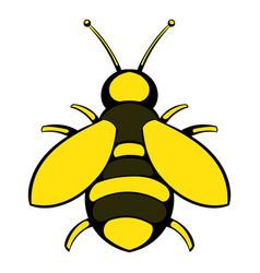 bee icon icon cartoon vector image vector image