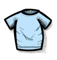 cartoon image of shirt icon t-shirt symbol vector image vector image