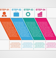 Infographic design template vector image vector image