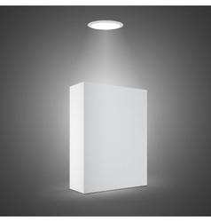 Photorealistic 3D White Carton Box on a vector image vector image