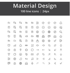 ui mobile line icons vector image vector image