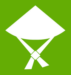 vietnamese hat icon green vector image