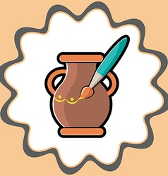 Icon for Hand Made pot vector image