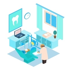 isometric dental clinic Color vector image vector image