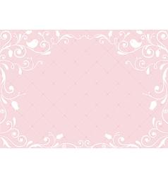 Pink vintage background vector image